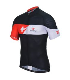 CUORE TEAM MEN S/SLEEVE JERSEY SWISS CLASSIC BLACK/RED