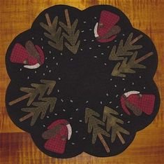 Floral Beauty Wool Applique Penny