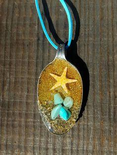 Resin Cast Starfish Spoon Jewelry Boho Vintage by EnergizedJewels