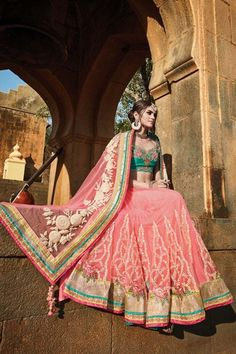 Pink Net Wedding Saree