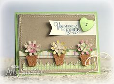 TCPTTues211 - Flower Pot Trio by PickleTree - Cards and Paper Crafts at Splitcoaststampers