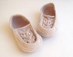 Beige Owl Slippers Knit Slippers Women Men by senoAccessory