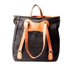 black and tan ruc tote by j.panther luggage :: Roztayger :: Designer Handbags & Accessories