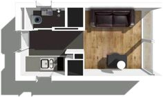 green prefab house plan