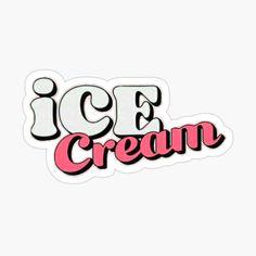 Kpop Stickers, Korean Stickers, Printable Stickers, Cute Stickers, Ice Cream Logo, Ice Cream Poster, Cream Aesthetic, Cute Wallets, Kim Jisoo