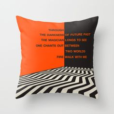 Twin Peaks Fire Walk With Me Cushion Cover by Jazzberry Blue