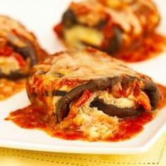 Classico Eggplant Rollatini  - Allrecipes.com My husband has been asking for this. ..way too long.  I'll have to deliver