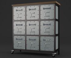 3D, Furniture, Industrial..., 4 Blender Models , Full Texture Included - High Quality 3D Model And Shaders for Blender