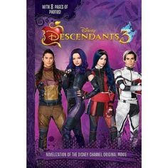 This junior novel retelling captures the spirit of the third installment of the hit Disney Channel original movie series. Inviting readers to experience the thrill of Descendants 3 in novel form, this book is a must-have for any fan. Disney Channel Original, Original Movie, Descendants 3 Book, Isle Of The Lost, Roman, Resort Logo, How To Make Animations, Dog Pajamas, Spirit Jersey