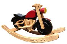 Schaukelmotorrad Schaukelpferd Holzspielzeug HARLEY COLOR NEU