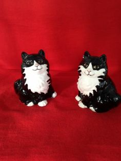 Salt Shakers Black and White Cats | eBay