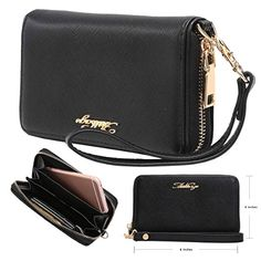 0ea119bbd1 Aitbags Clutch Wallet for Women Zipper Long Purse for Checkbook