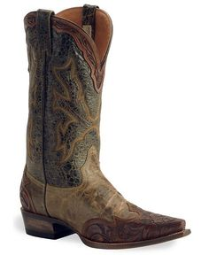Stetson Boots: Brown Tooled Wingtip. LOVE these!