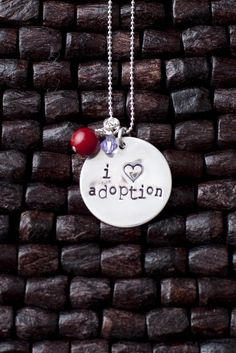 An obvious and beautiful way to express your love for adoption.