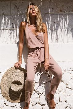 ╰☆╮Boho chic bohemian boho style hippy hippie chic bohème vibe gypsy fashion indie folk the 70s . ╰☆╮ Bronz Jumpsuit - SABO SKIRT -