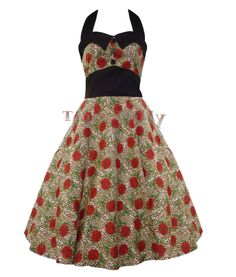 Hell Bunny 50's Dress Womens Charlie Leopard Size 6-14