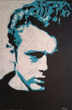 """""""James"""", 80cmx120cm Acryl on Canvas"""