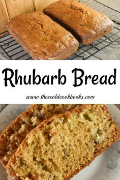 This Rhubarb Bread recipe is a great classic quick bread that is easily made. Served warm with a pat of butter, this quick bread featuring rhubarb is a great breakfast or snack option. Rhubarb Bread, Rhubarb Muffins, Rhubarb Desserts, Rhubarb Cake, Healthy Rhubarb Recipes, Rhubarb Cookies, Loaf Recipes, Muffin Recipes, Baking Recipes