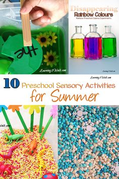 Looking for a few preschool sensory activities to do this summer? Try these 10 Preschool Sensory Activities for Summer