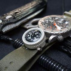 Prometheus Design Werx Expedition Watch Band Compass Kit - OD Green