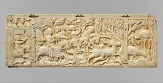Panel with Hunting Scenes Date: ca. 1350 Geography: Made in Paris, France