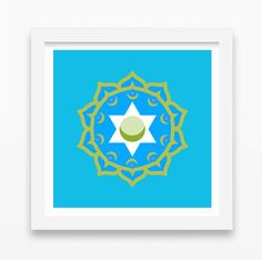 SALE:  Moroccan Print  Sacred Geometry  Giclee  by HoneycombPrint