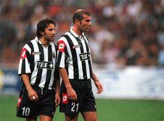 Juventus legends Zinedine Zidane  Alessandro Del Piero