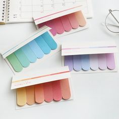 5 Colors 20 Sheet Cute Sticky Notes Memo Pad Sticker Student's Fashion Bookmark Page Flag Sticker School Office Stationery Stationary Supplies, Stationary School, Cute Stationary, School Stationery, Korean Stationery, Planner Stickers, School Suplies, School Accessories, Desk Accessories