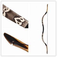 Handmade longbow Snakeskin 20-60LBS Flagella Reiterbogen Recurve Horsebow  H2S