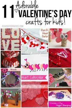 These 11 adorable Valentine's Day crafts for kids are fun for many age ranges, and are the perfect way to cheer up a cold winter weekend!
