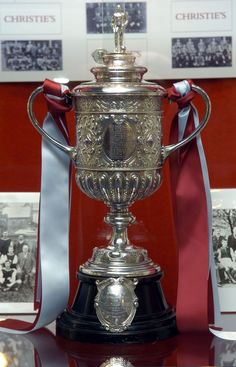 The FA Cup which replaced the original trophy, stolen from Aston Villa's keeping in 1895.