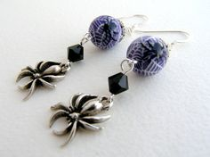 TANGLED - Artisan Polymer Clay Spider Earrings