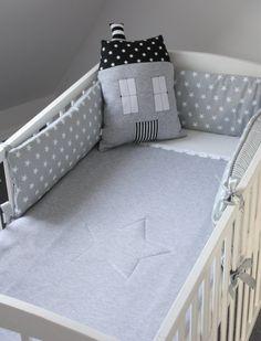 Bebé cuna cuna gris parachoques parachoques estrellas por myTITU