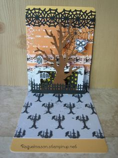 Raquel Mason - Pop N Cut Halloween Stampin Up Dress Form, Branch Tree & Out on a Limb stamp set