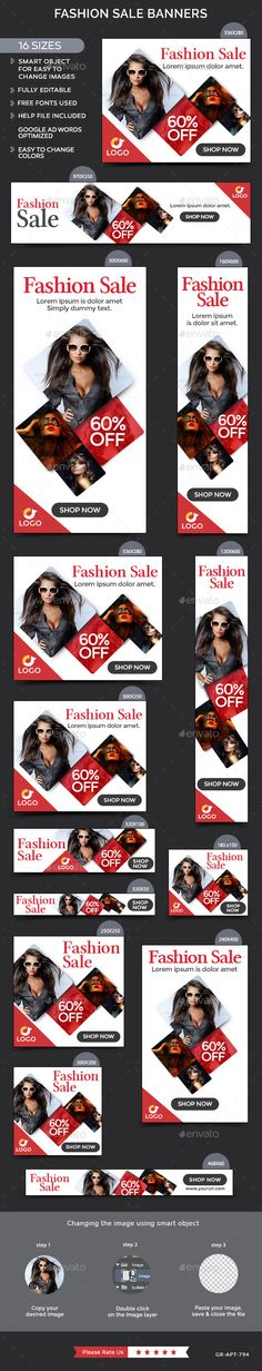 Fashion Sale Banners Template #design Download: http://graphicriver.net/item/fashion-sale-banners/12255065?ref=ksioks