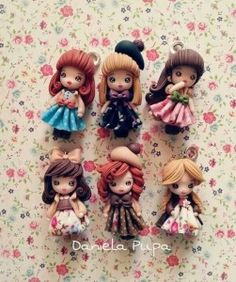These lovely polymer clay pendants were my inspiration. Polymer Clay People, Polymer Clay Disney, Polymer Clay Dolls, Polymer Clay Projects, Polymer Clay Charms, Handmade Polymer Clay, Polymer Clay Jewelry, Clay Crafts, Handmade Dolls