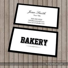 Modern Bold Border Bakery Business Card created by cardfactory. This design is available on several paper types and is totally customizable. Bakery Business Cards, Unique Business Cards, Business Card Design, Business Ideas, Bakery Logo Design, Card Templates, Girly Things, Cupcake, Packaging