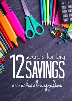 Ways of saving money on college supplies?
