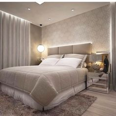 Ideas For Small Bedroom Lighting Ceilings Bedroom Blinds, Master Bedroom Interior, Home Interior, Home Decor Bedroom, Modern Bedroom, Bedroom Ideas, Interior Ceiling Design, Contemporary Apartment, Contemporary Art