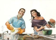 En una sociedad en la que los roles dentro de la familia han cambiado, especialmente para la mujer, quien también trabaja ahora fuera de casa, es fundamental el reparto de las tareas domésticas y del cuidado de los hijos.
