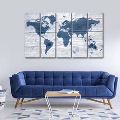 Wooden World Map II Multi Panel Canvas Wall Art by ElephantStock is printed using High-Quality materials for an elegant finish. We are the specialists in Modern Décor canvas prints and we offer 30 day Money Back Guarantee Canvas Artwork, Artist Canvas, Artist Painting, Canvas Prints, Unique Maps, Create Canvas, Blues Artists, Types Of Rooms, Vintage Maps