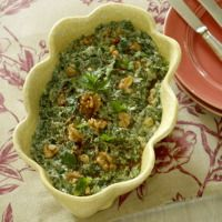 #yogurt, spinach, parsley salad #atlantic.com