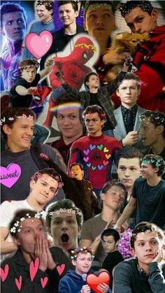 Holland Tom Collage – The fan club of Tom Holland – Comic Wallpaper Tom Holland Peter Parker, Spideypool, Tom Holland Freundin, Tom Holland Girlfriend, Dibujos Toy Story, Tom Holand, Baby Toms, Disney Toms, Avengers Wallpaper