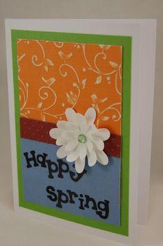 """Happy Spring"" Handmade Greeting Card"