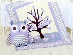 This in grey! Hey, I found this really awesome Etsy listing at https://www.etsy.com/listing/206993906/organic-owl-quilt-baby-crib-bedding-kids