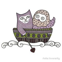 TAnita Inverarity | INK on illustration board | he Owl and the Pussycat