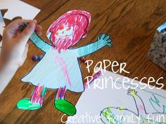 Make paper princesses with Creative Family Fun