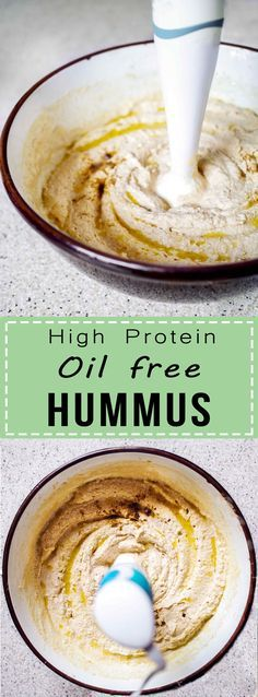 High Protein Oil-free Hummus | super easy and delicious | www.discoverdelicious.org