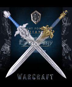 Warcraft The Beginning World of Warcraft WOW King Llane Wrynn I Lion Sword Cosplay Weapon Prop
