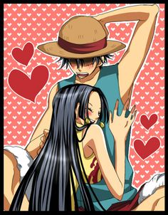 Monkey D. Luffy and Boa Hancock